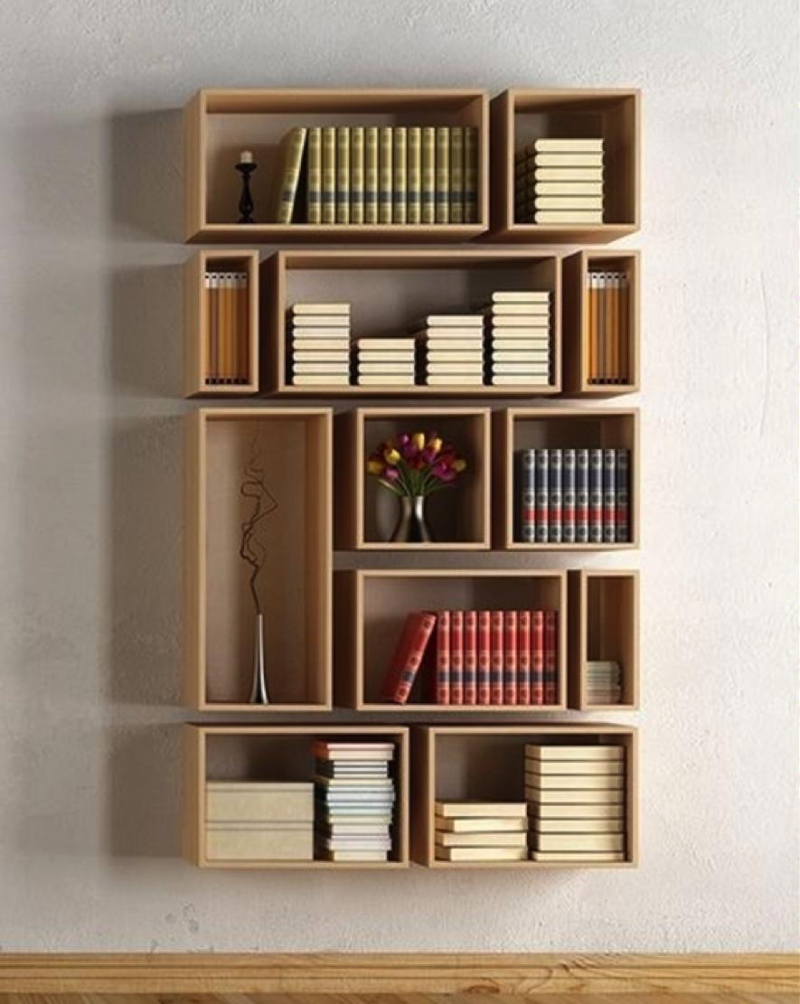 Costruire Mensole Per Libreria A Muro.10 Idee Originali Per Realizzare Librerie E Scaffali Creativi