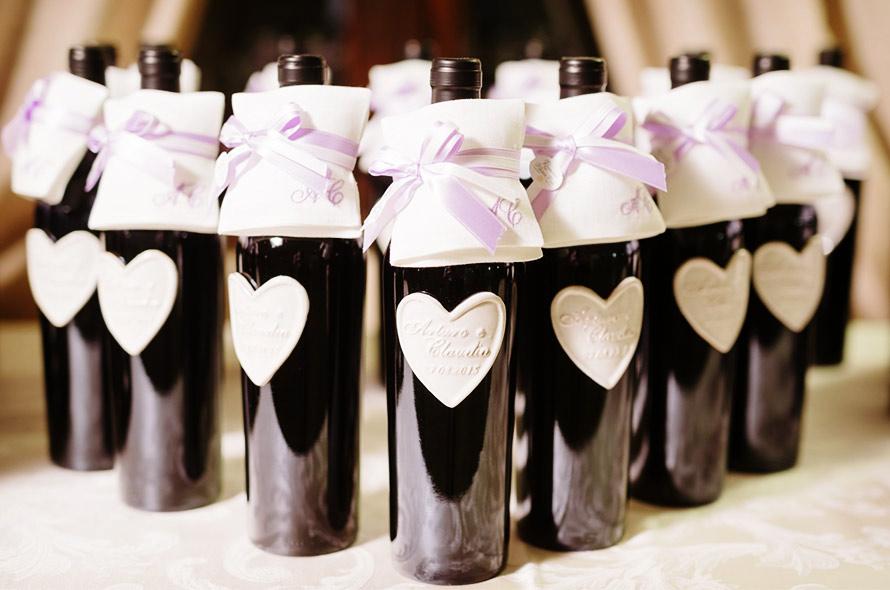 bottiglia di vino bomboniere matrimonio