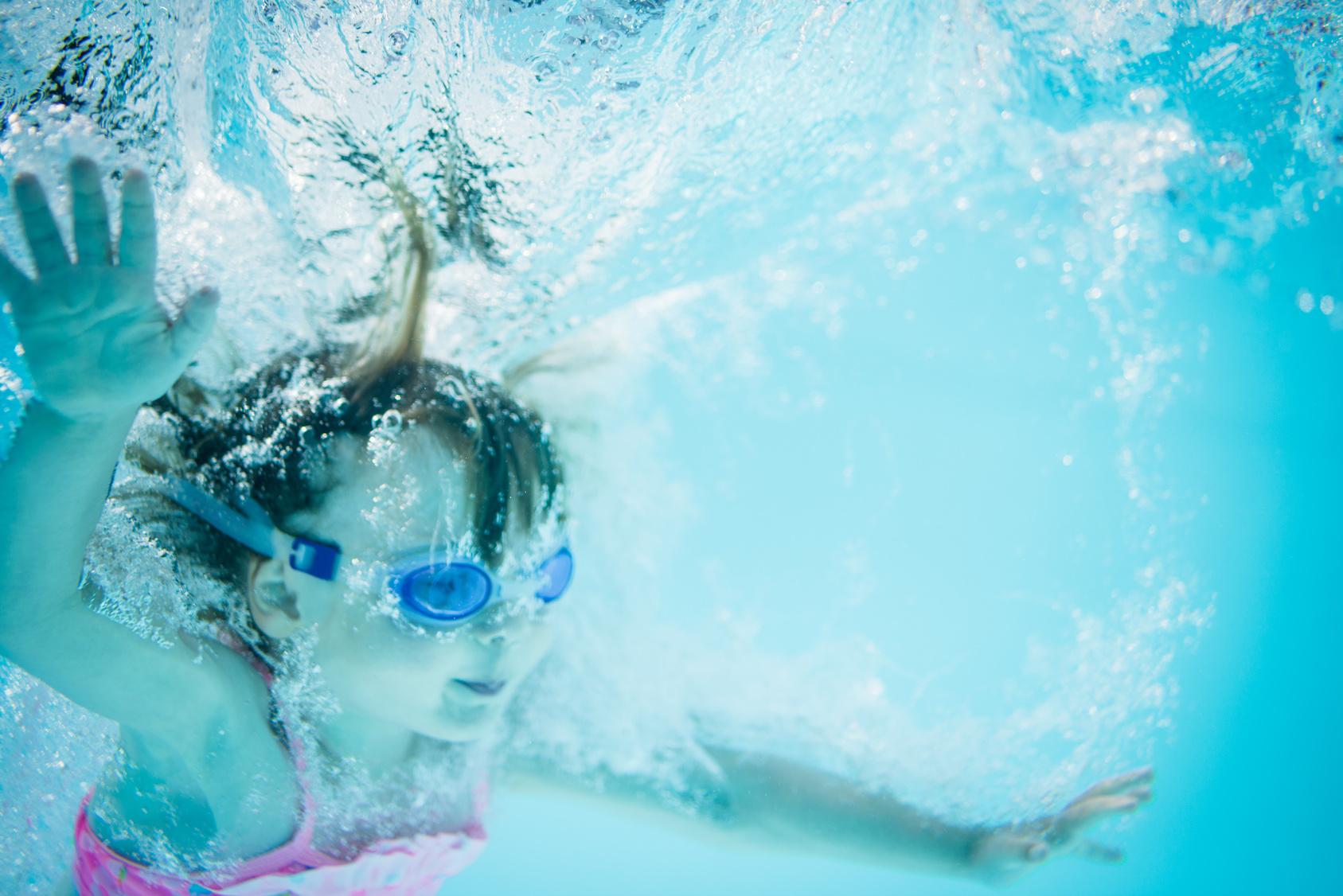 Lezioni di nuoto di estate
