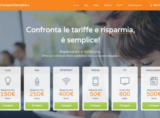 Nuova Homepage Comparasemplice.it