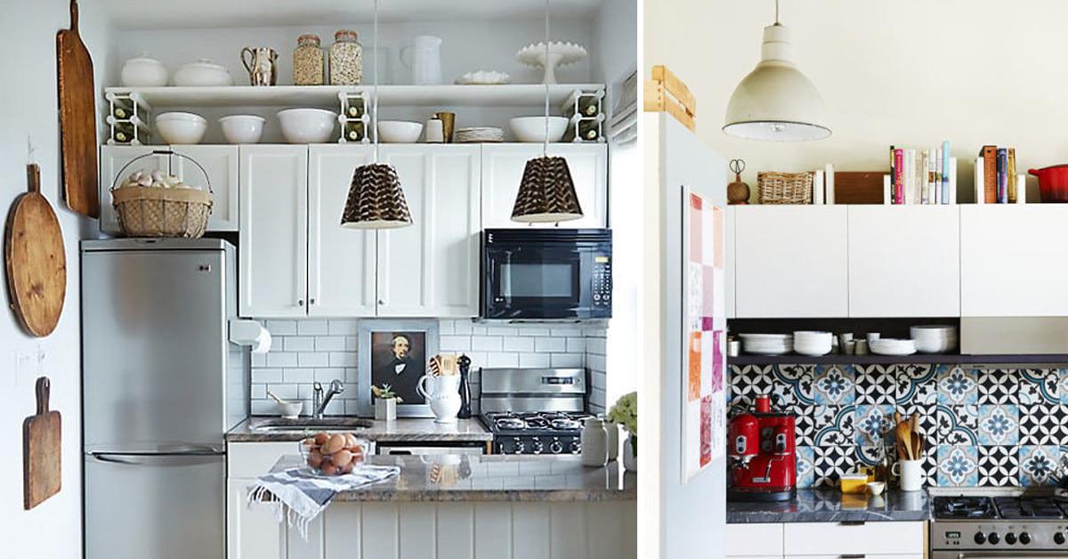 Cucina Soffitti Alti : Idee per ottimizzare lo spazio vuoto tra i pensili in cucina e