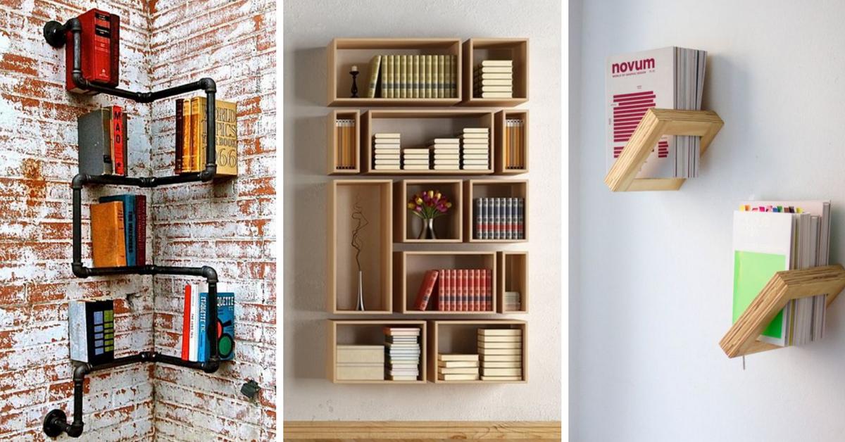 10 idee originali per realizzare librerie e scaffali creativi for Oggetti originali per la casa