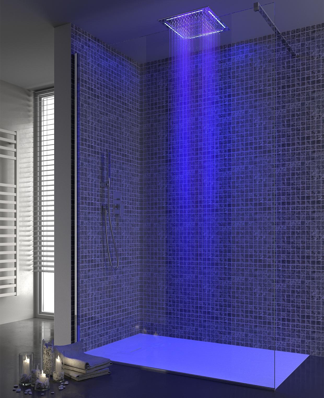 Il box doccia perfetto come coniugare l 39 aspetto estetico e il confort - Doccia con led colorati ...